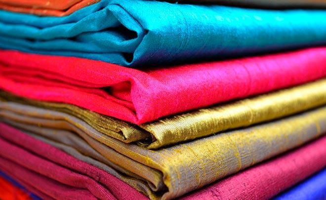 ткани из шелка